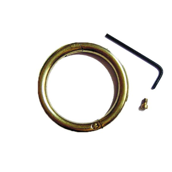"Bull Nose Ring Brass 2 1/2"" Small"