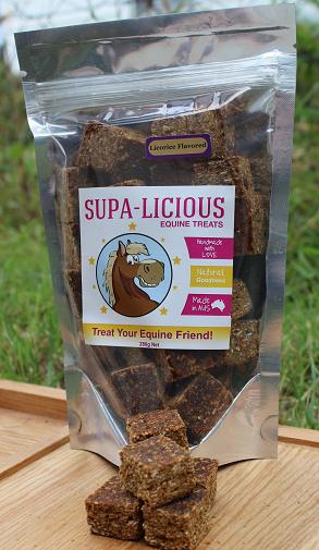 Supa-Licious Equine Treats Licorice & Coconut Bites 280g