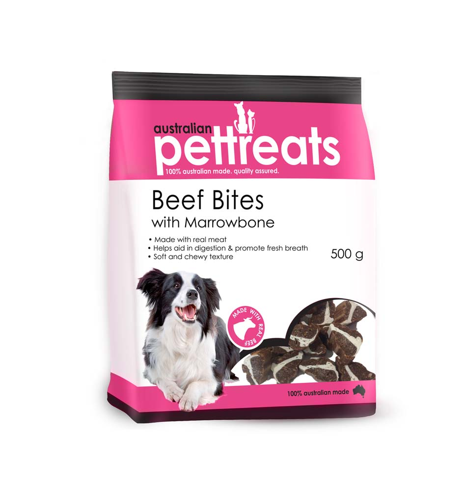 Beef Bites with Marrowbone Treats 500g
