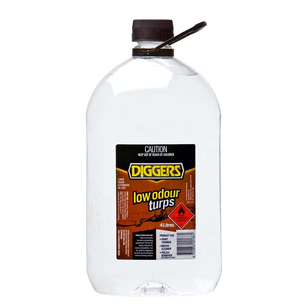 Diggers Mineral Turpentine (Low Odour) 4L