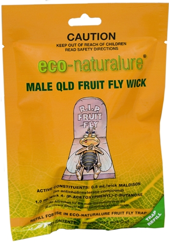 Eco-Naturalure Male QLD Fruit Fly Wick (Refill)