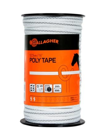 Gallagher Poly Tape 12 5mm 200m G62304